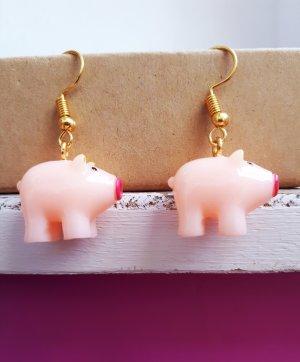 Vintage Handgemachte Schweinchen Ohrringe