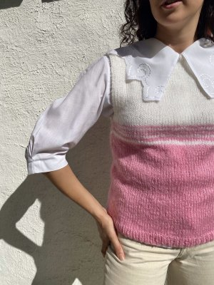 Handmade Knitted Vest multicolored