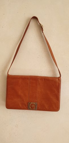 Vintage Handtasche Cognacfarben, Hellbraun