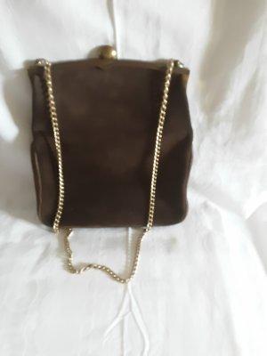 Vintage Handtasche  , echt Leder, braun