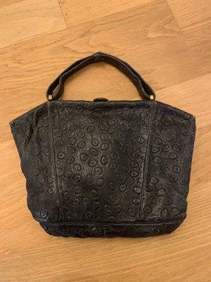 Vintage Handtasche Straussenleder