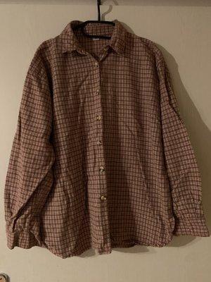 Vintage Camicia da boscaiolo rosa antico-marrone chiaro