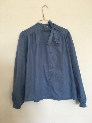 Vintage Shirt met lange mouwen azuur Polyamide