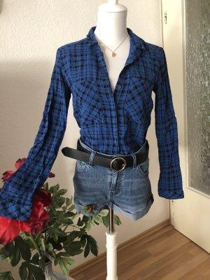Vintage Hemd Bluse in blau kariert ❤️