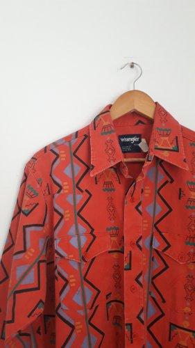 Wrangler Camisa de manga larga rojo-azul aciano