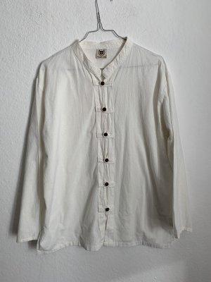 Vintage Blouse en lin blanc