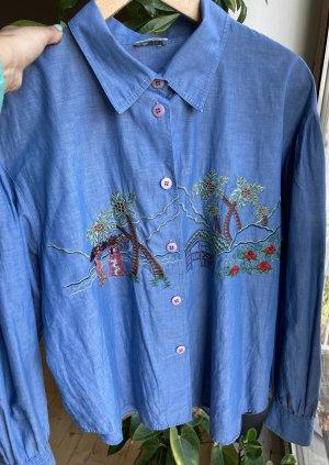 andere Marke Chemise à manches longues bleu azur