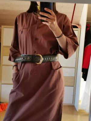 True Vintage Vestido tipo blusón marrón-coñac