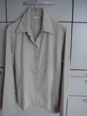 Vintage - Hennes Collection schwere samtige Bluse Gr. 40 - hellbeige