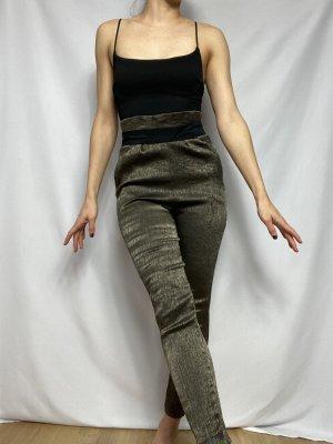 Pantalone a vita alta multicolore
