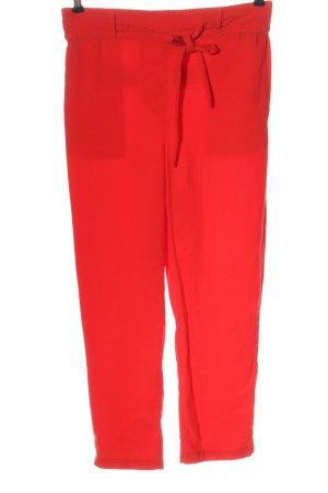 Vintage Pantalon taille haute rouge style décontracté