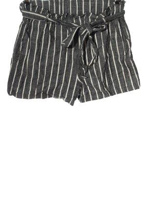 Vintage Short taille haute gris clair-blanc imprimé allover style décontracté