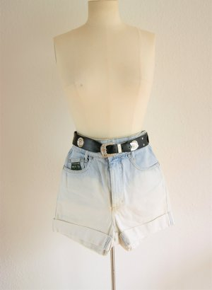 Vintage High Waist Shorts Dip Dye, Original HIS Jeansshorts, festival blogger alternative