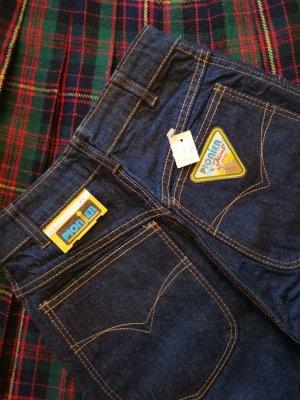 Vintage Jeansy z wysokim stanem ciemnoniebieski
