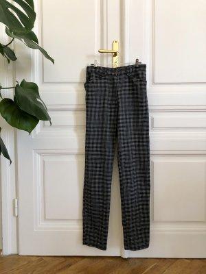 True Vintage Hoge taille broek zwart-grijs