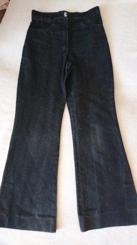 Pantalon pattes d'éléphant noir-gris foncé