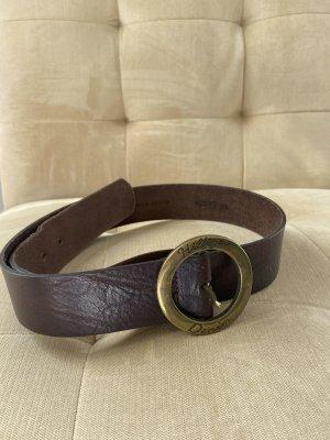 Tommy Hilfiger Cinturón de cuero marrón-negro