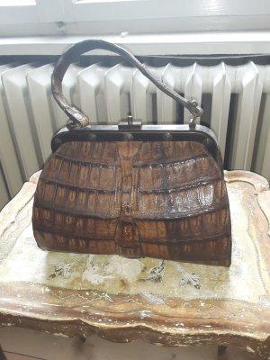 Vintage Hochwertige Kroko Leder Tasche Handtasche Bag