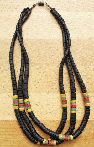 Vintage Holzscheibenkette Afrika Ethno