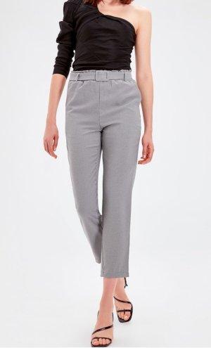 American Vintage Pantalón tipo suéter blanco-negro