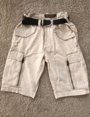 Pantalón pirata crema-beige claro