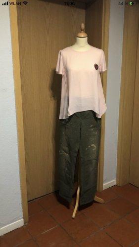 Zara Woman Kaki broek veelkleurig