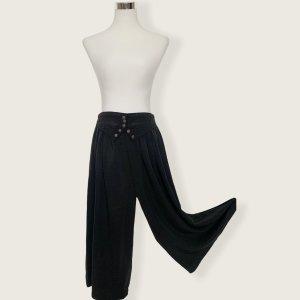 Vintage Falda pantalón de pernera ancha negro