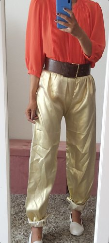 Vintage Jersey Pants gold-colored