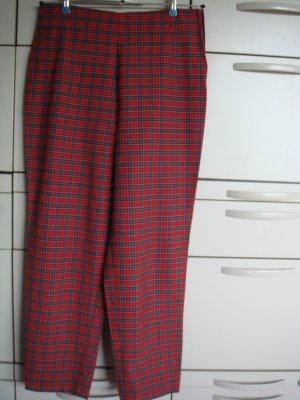 Vintage - Hose Gr. 42 rot grün weiß kariert  - Karottenform