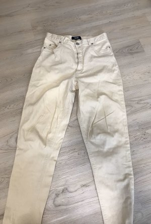 TCM Hoge taille jeans licht beige Katoen