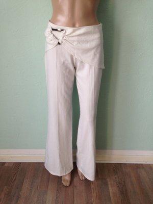 Pantalón anchos blanco-blanco puro tejido mezclado