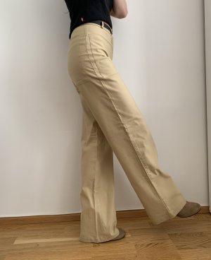 Vintage Spodnie palazzo piaskowy brąz