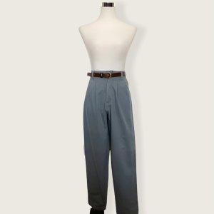 Vintage Pantalone a pieghe blu pallido