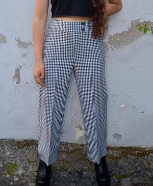 Vintage Pantalon «Baggy» blanc-noir