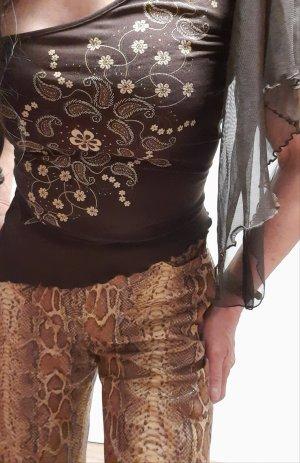 Alba Moda High Waist Trousers brown-beige