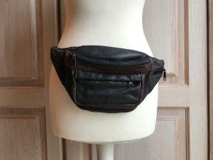 Vintage Hüfttasche Leder Tasche schwarz braun echt Vintage Beutel Gürtel Tasche