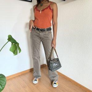 Hugo Boss Luźne spodnie szaro-brązowy Bawełna