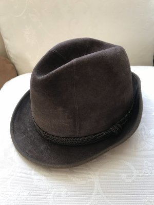 Vintage Traditional Hat brown-dark brown leather