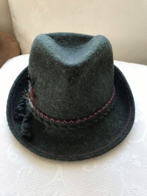 Vintage Traditional Hat dark green-brown