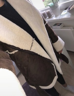 NA-KD Fleece Jackets brown-cream