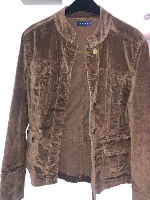 Vintage Jacke aus braunem Samt Größe 40