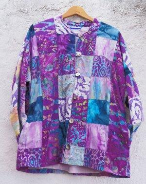 Vintage Jacke Batik Hippie Ethno bunt Oversized