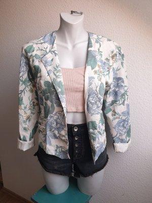Vintage Jacke / Blazer mit Blumenmuster