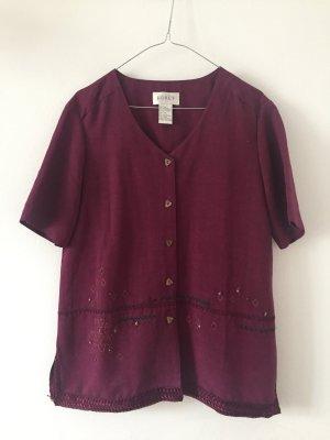 Vintage Jacke kurzarm Oversize dunkles pink