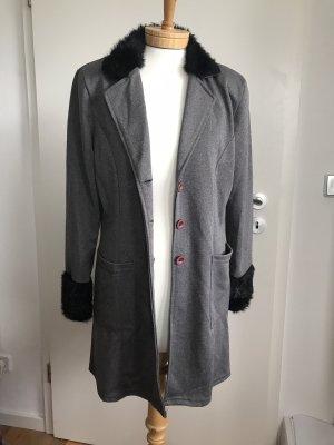 Vintage Jacke * Kurzmantel * mit Kunstfell * 36/38