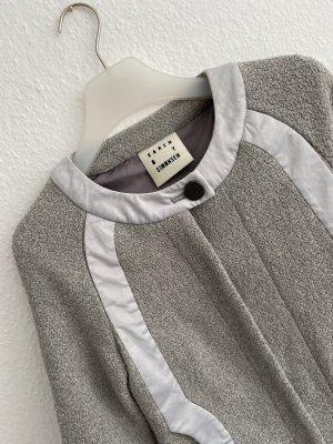 Karen by Simonsen Veste en laine argenté-gris clair