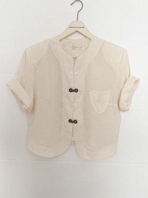 Vintage Jacken-Bluse // off-white // M-L