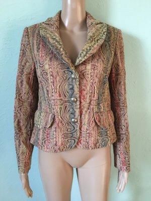 Vintage Jacquard Blazer Bunt Barock
