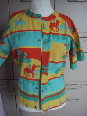 Vintage- Jean Lalune St. Tropez Bluse Gr. 38/40 - knallfarbig