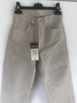 Vintage Jeansy z wysokim stanem jasnobeżowy-kremowy